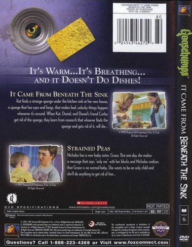 Goosebumps Its Came From Beneath The Sink Region 1 Import