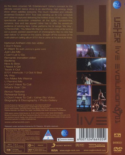 DVD 8701 EVOLUTION USHER BAIXAR LIVE
