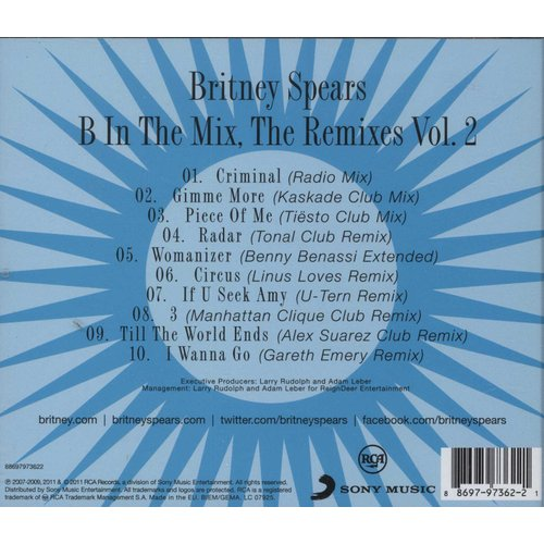 Britney Spears - B In The Mix - The Remixes - Volume 2 (CD