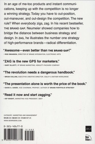 Zag The 1 Strategy Of High Performance Brands Paperback Marty