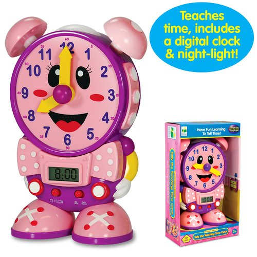 The Learning Journey Telly The Teaching Time Clock (Pink)   Toys