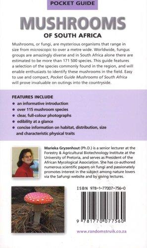 Pocket Guide Mushrooms Of South Africa Paperback Marieka