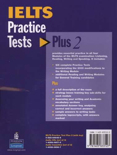 IELTS Practice Tests Plus 2 with Key and CD Pack (Paperback