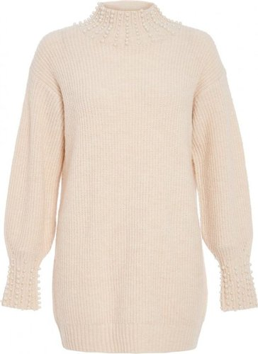 d1283a040 Quiz Women TOWIE Knit Pearl Jumper (Cream)