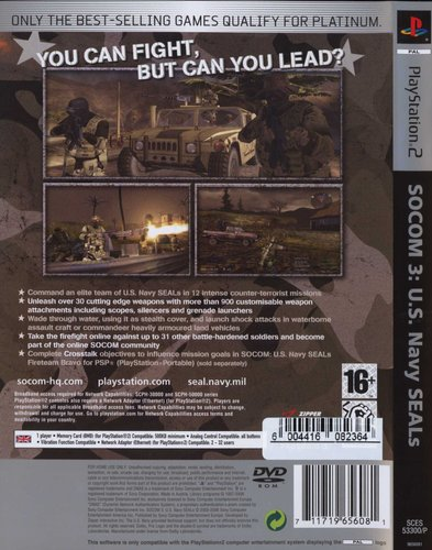 Socom 3 - US Navy Seals - Platinum (PlayStation 2, DVD-ROM
