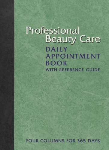 professional beauty care daily appointment book with reference guide
