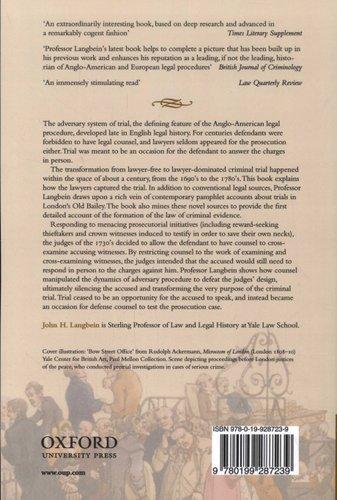 the origins of adversary criminal trial langbein john h