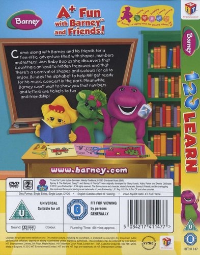 Barney: 1 2 3 Learn (DVD)   Movies & TV   Buy online in