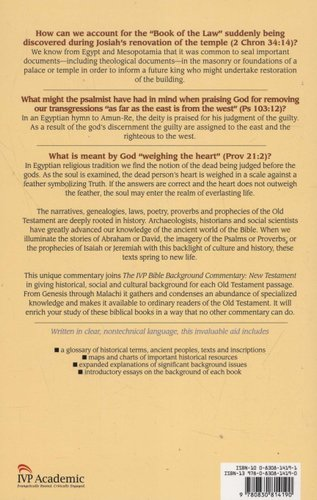 The IVP Bible Background Commentary - Old Testament