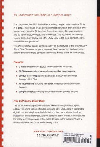 ESV Study Bible, Personal Size (Paperback): 9781433530838   Books