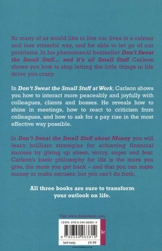 Dont Sweat The Small Stuff Book