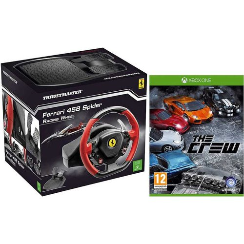 thrustmaster xbox one ferrari 458 spider racing wheel (includes game