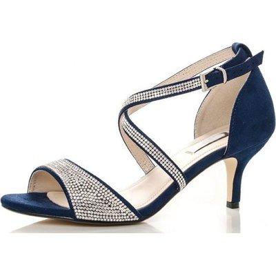 Quiz Women Diamante Low Heel Sandals