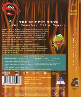 The Muppet Show - Season 3 (DVD, Boxed set)