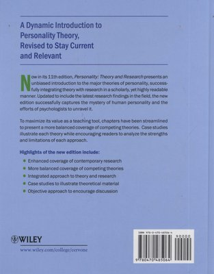 Personality theory and research 11th edition.
