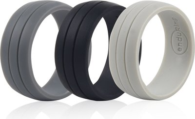 Enduring Striped Silicone Wedding Ring Set Of 3 V Fashion Buy Online In South Africa From Loot Co Za