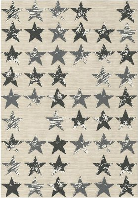 Rugs Warehouse Trendy Flow Black And Light Grey Stars On A