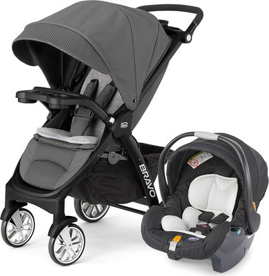 Strollers Chicco Mini Bravo Stroller Ink Key Fit Car Seat Was
