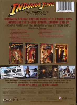 Indiana Jones: The Complete Collection - Raiders Of The Lost Ark / Temple  Of Doom / The Last Crusade