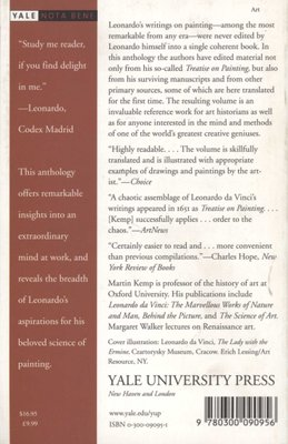 Leonardo on Painting An Anthology of Writings by Leonardo da Vinci with a Selection of Documents Relating to his Career