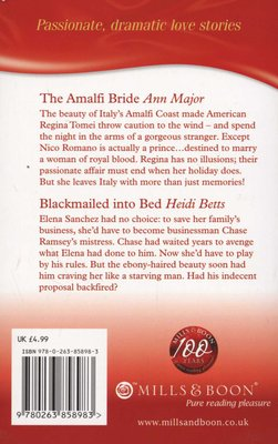 Blackmailed In Bed And The Amalfi Bride Paperback Heidi