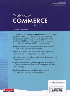 Textbook Of Commerce Paperback 5th Edition Lynda Fitzmaurice 9780435982256 Books Buy Online In South Africa From Loot Co Za