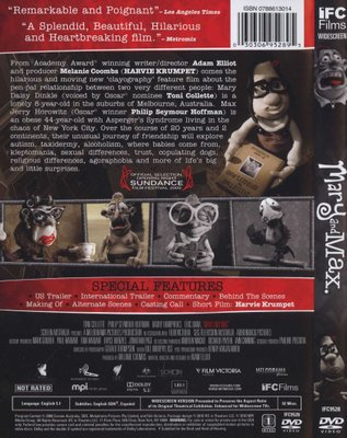 Mary And Max Region 1 Import Dvd Barry Humphries Toni Collette Adam Elliot Dvd Buy Online In South Africa From Loot Co Za