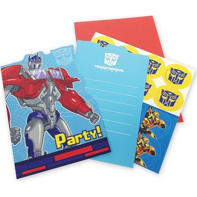Transformers Classic - 6 Die-Cut Invitations & Envelopes