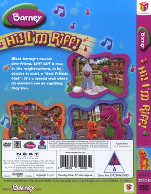Movies Barney Hi Im Riff Dvd For Sale In Cape Town Id382735828